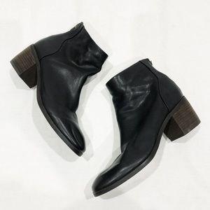 Lucky Brand Black Block Heel Booties Size 8.5